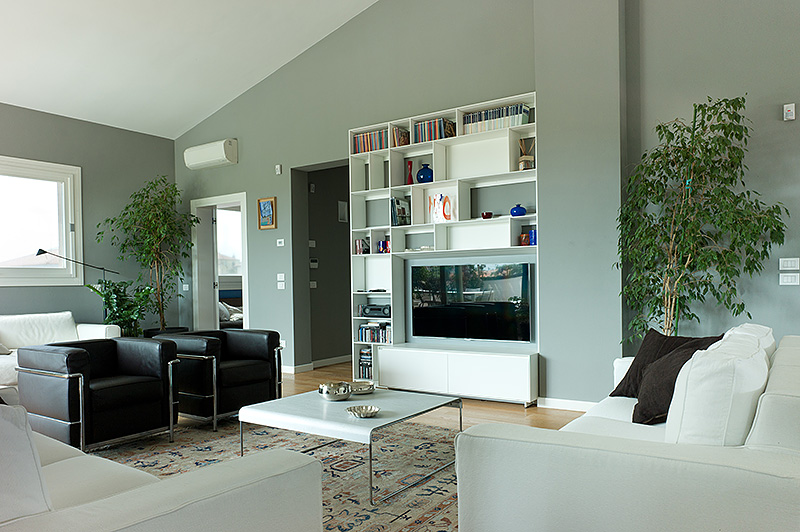 interventi di home relooking e disegno arredi in abitazione a padova - Disegni Su Pareti Soggiorno 2